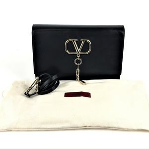 Vaentino Garavani Black V Case Shoulder Bag